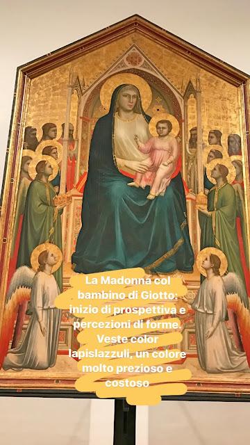 La madonna con bambino di Giotto Uffizi Firenze