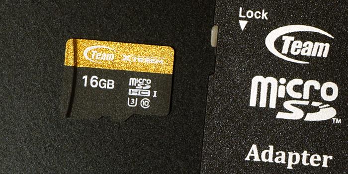 TEAM Xtreem マイクロSDカードの本体デザイン