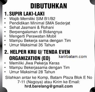 Lowongan Kerja Sopir Barelang (Juli 2017)