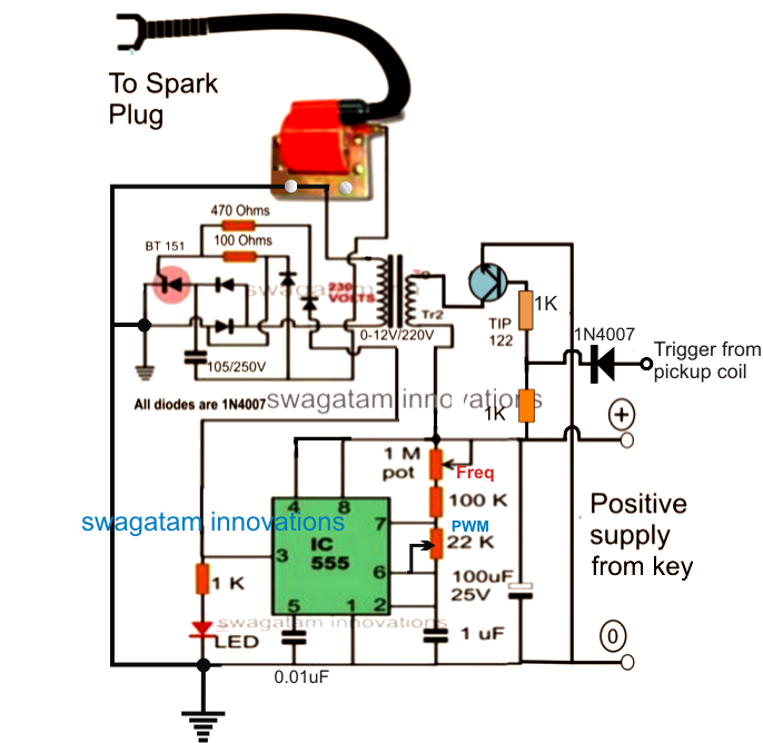 make this enhanced capacitive discharge ignition cdi circuit for finalized design