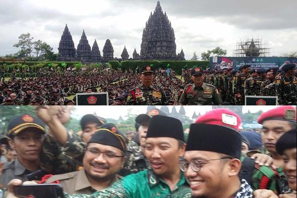 Perambanan Menjadi Saksi Banser NU dan Kokam Muhammadiyah Apel Bersama