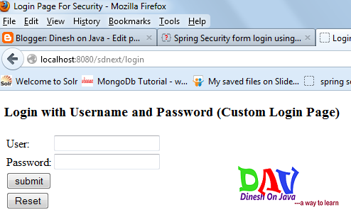 Spring Security  Using Database