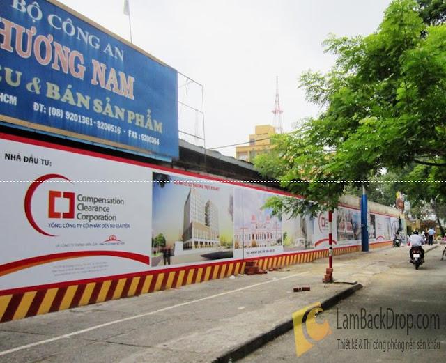 backdrop hàng rào công trình HCM