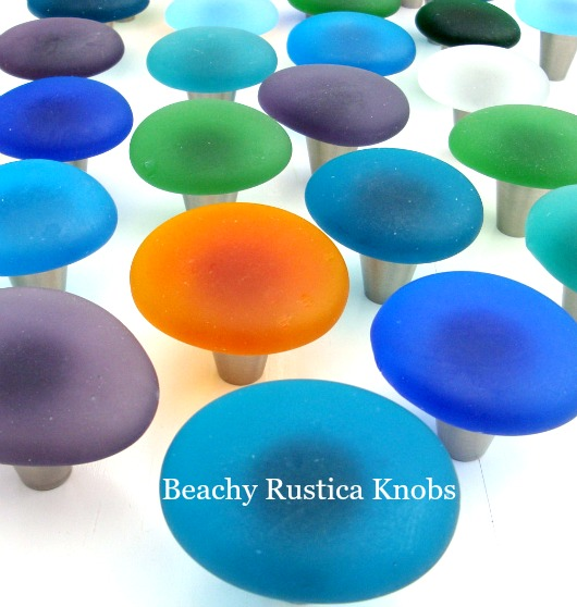 Beach Glass Knobs