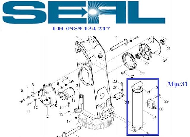 Xy lanh nâng cần của cẩu Kanglim 6 tấn KS1253-KS1254-KS1255-KS1256-H1079767R1