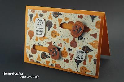 Halloween 2017 - Doppelte Kullerkarte mit Stampin´ Up!