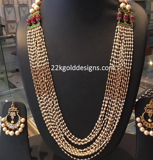 Designer Multi String Small Pearl Haar
