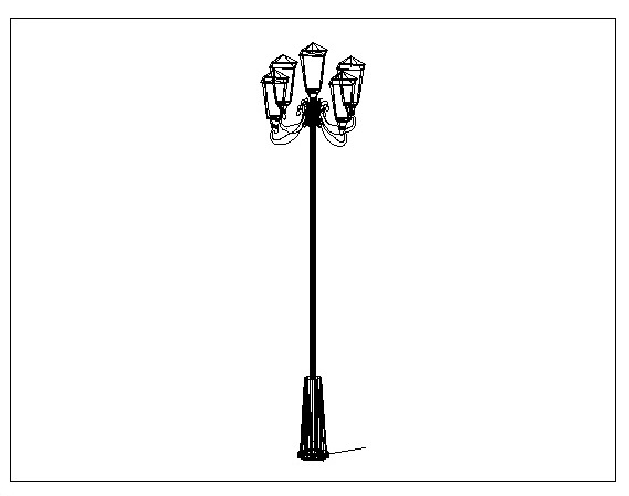 Contoh Gambar Autocad Lampu Taman Autocad Clasic