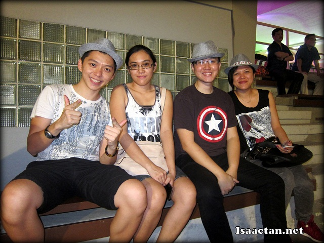 Tian Chad and gf, Nic Gan and friend