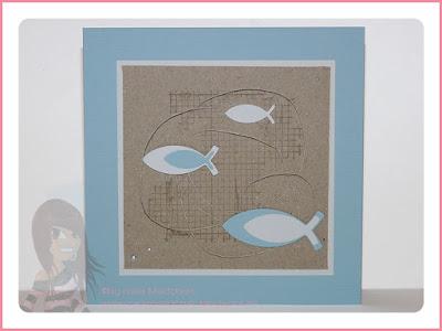 Stampin' Up! rosa Mädchen Kulmbach: Konfirmations-/Kommunionkarten mit Off the grid und Fischen