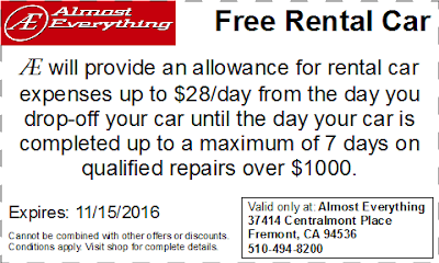 Coupon Free Rental Car October 2016