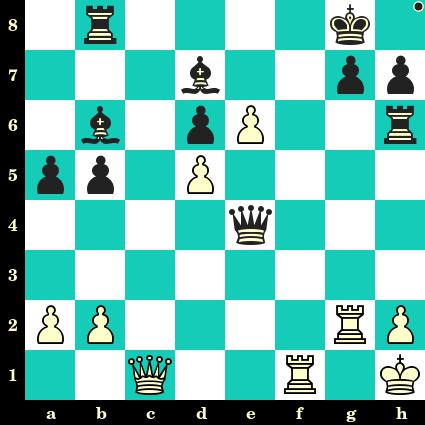 Les Noirs jouent et matent en 2 coups - Boris Ratner vs Alexander Konstantinopolsky, Moscou, 1945