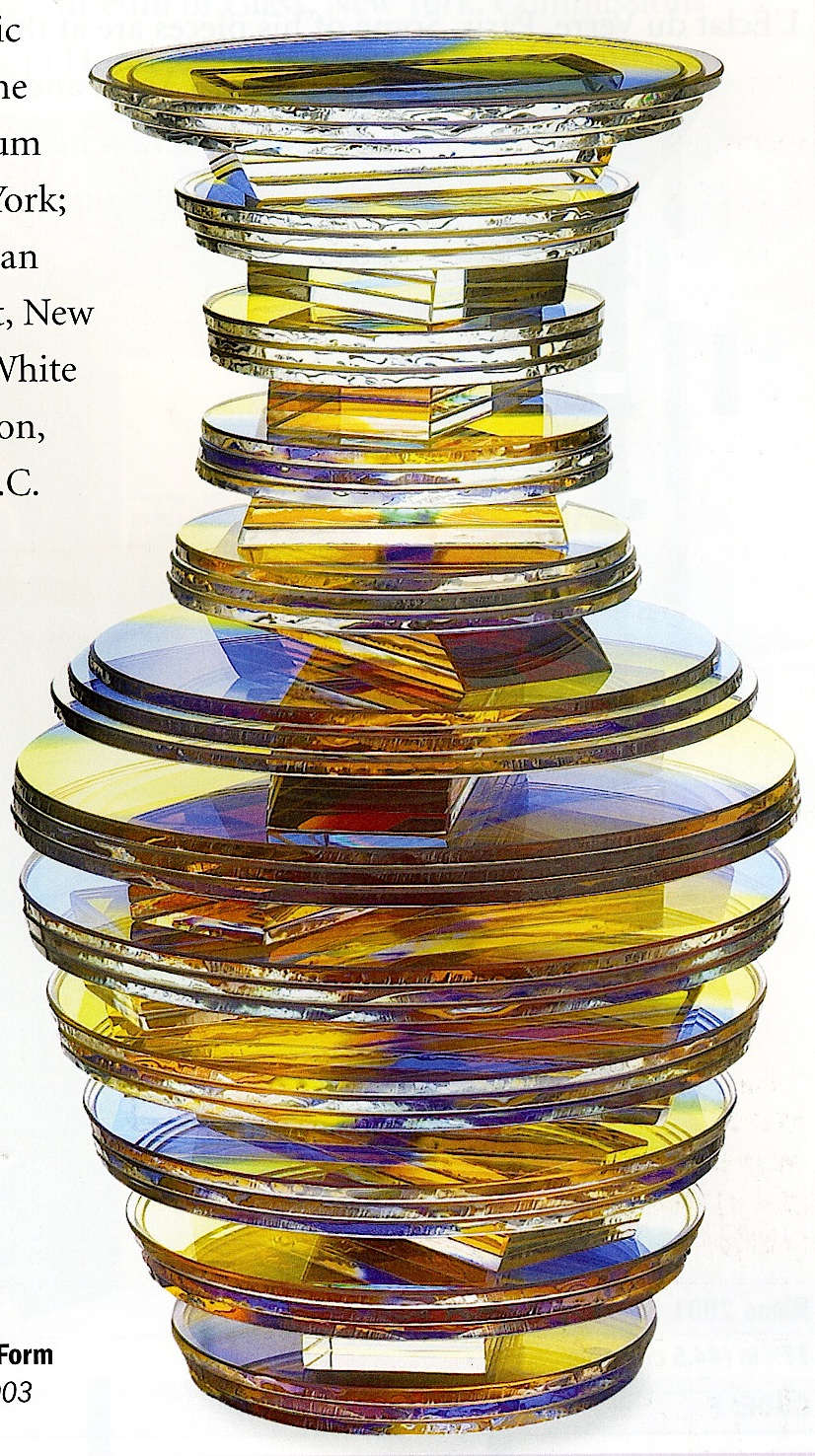 Sidney Hutter 2003 art glass in a color photograph