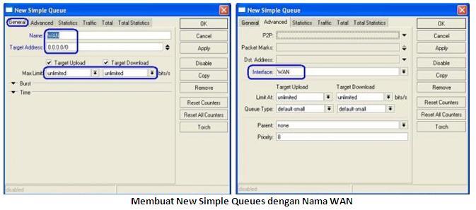 Bandwidth Manajemen Menggunakan simple queue