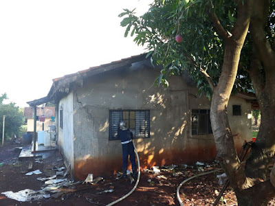 Incêndio destrói residência em Jandaia do Sul