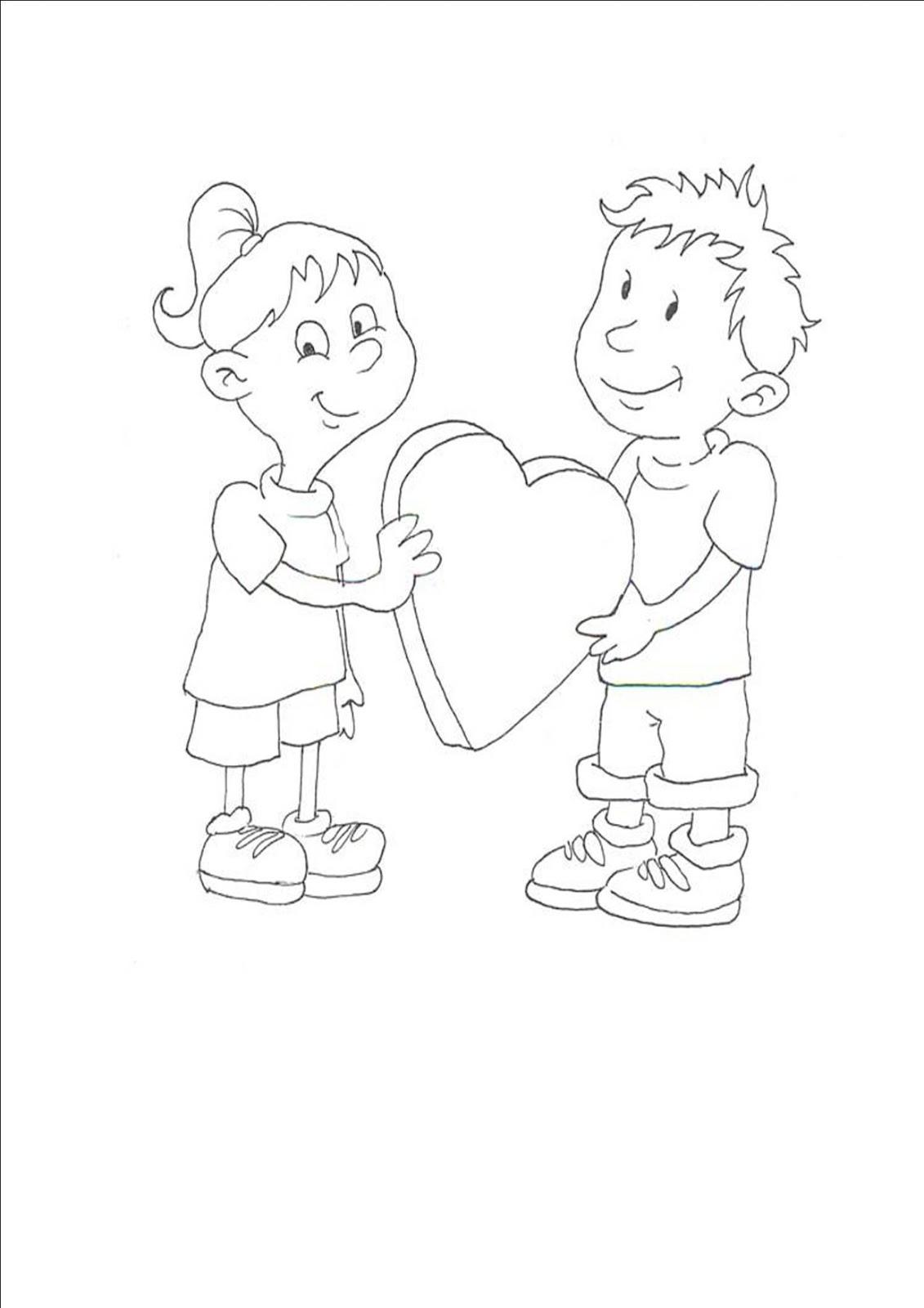 Immagini cuore da colorare - San valentino orso da colorare pagine da colorare ...