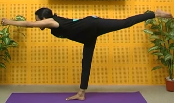 The One-legged Pose (Ekapada-asana)