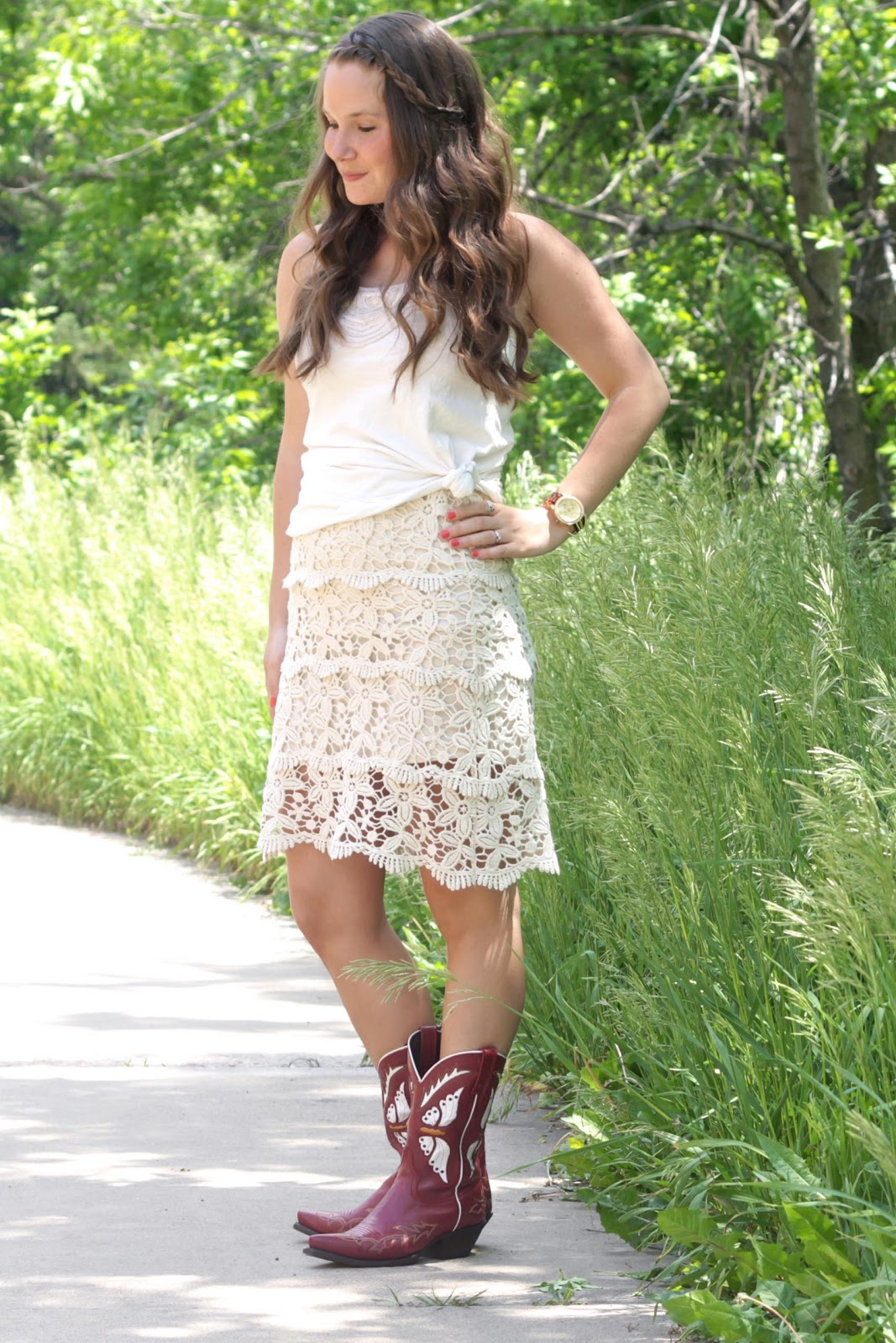 Skirts With Cowboy Boots - Skirts