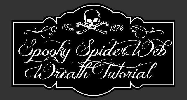Spooky Halloween Spider Web Wreath | The TipToe Fairy #halloweendecorations #halloweenwreath #wreathtutorial #halloween
