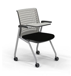 Mayline Thesis training room chair with tablet arm