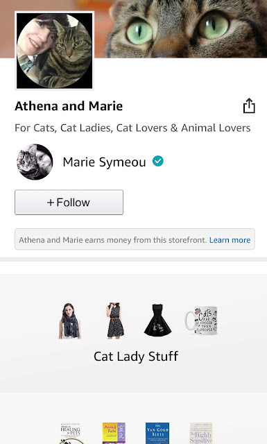 Athena and Marie Amazon Influencer page for cat people and their cat!