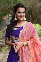 Actress Shraddha Srinath in Purple Chania Choli Cute Pics ~  Exclusive 60.jpg
