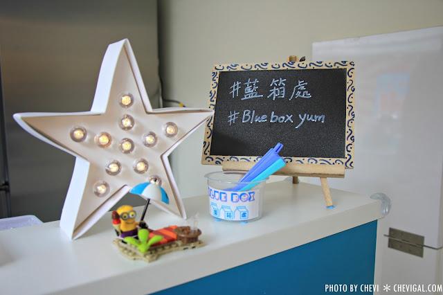IMG 0291 - 一中商圈│藍箱處Blue Box-分子冰淇淋雞蛋仔*少女心的清爽夢幻逸品。隱身在巷弄間的IG打卡新景點