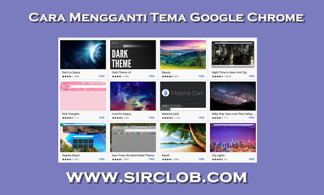 Cara Merubah atau Mengganti Tema Google Chrome