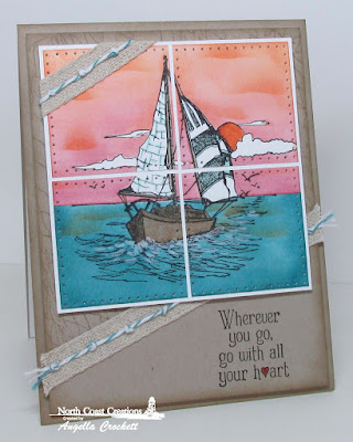 North Coast Creations Sail Away, Our Daily Bread designs Fishing Net Background, Card Designer Angie Crockett