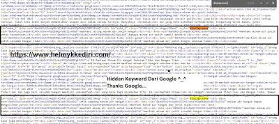 Cara mengetahui hidden keyword dari google3