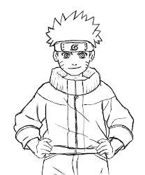 naruto draw drawing step last