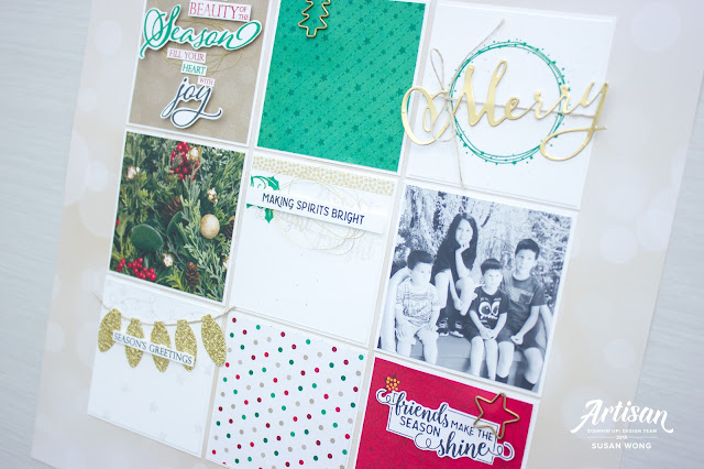 Christmas Sampler Decor / Layout - Merry Christmas / All is Bright by Stampin' Up! - Susan Wong
