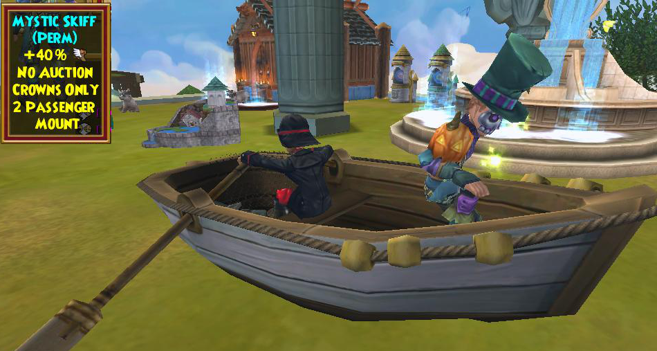 Wizard101 Mystic Fishing Bundle Boat / Skiff Mount