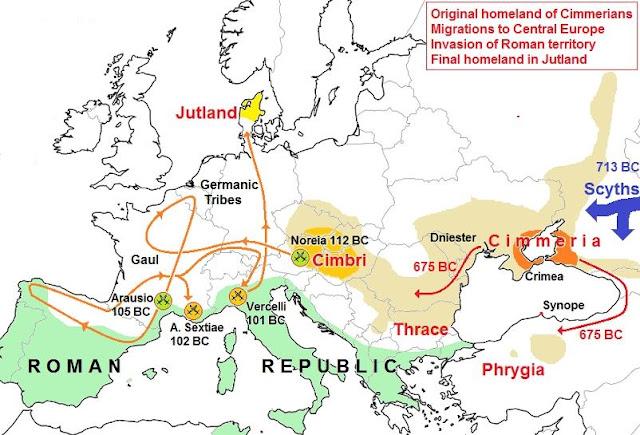 Cimbri migration into italy