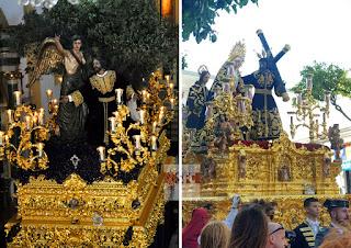 Afligidos y Huerto de San Fernando ensayan con sus pasos el discurrir por Cádiz