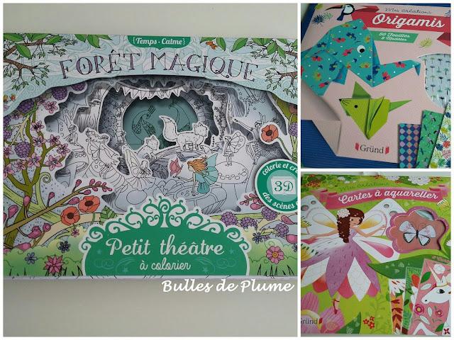 Forêt magique / Origami / Cartes à aquareller (Gründ)