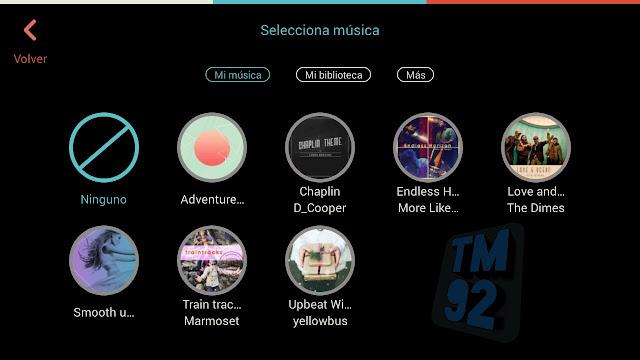 FilmoraGo para Android audio