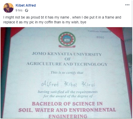 see%2B4 - Depressed JKUAT graduate and former student at Lenana School posts suicide notes on facebook after failing to get a job(PHOTOs)