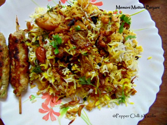 muslim memon style mutton biryani,memoni maseledar biryani recipe