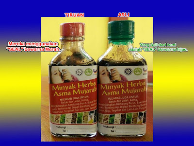 Minyak herba Asma Mujarab tiruan
