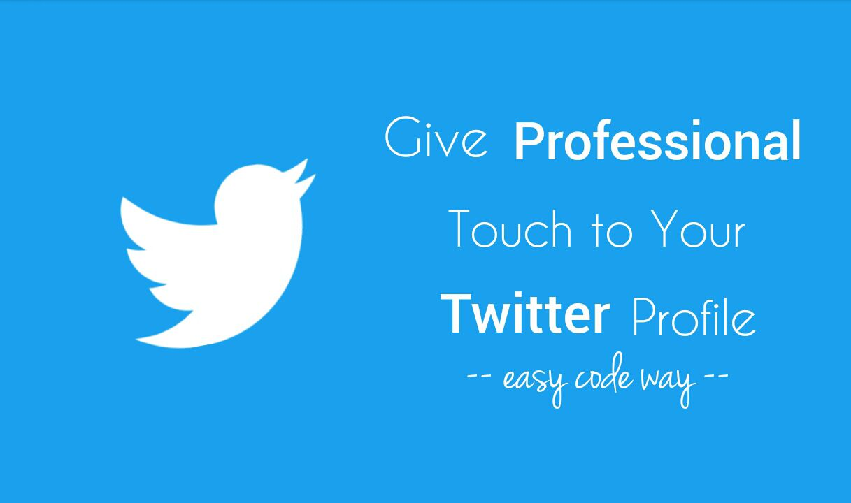 Make your Twitter profile more professional