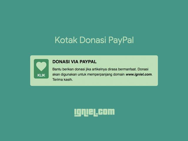 Kotak Donasi Paypal Igniel