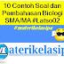 10 Latihan Soal dan Pembahasan Biologi SMA/MA #Latso02