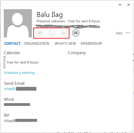 UC Administration Blog : Lync status in Outlook shows