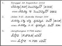 Belajar Menulis Aksara Sunda Asli