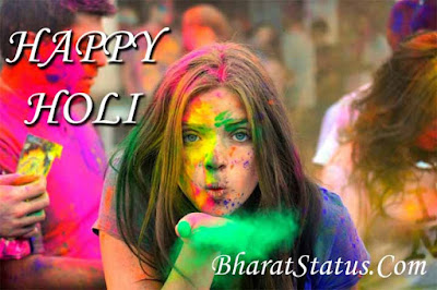 Happy Holi wishes sms quotes images in hindi