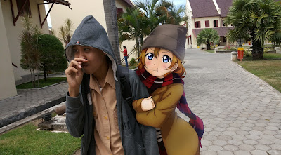 edit foto bareng anime