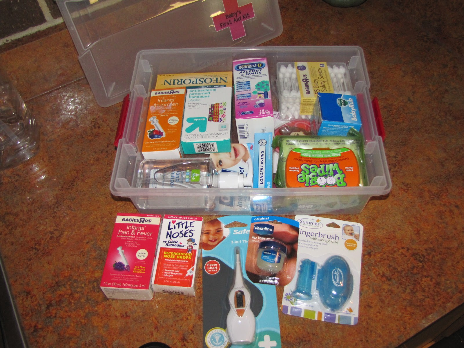 i heard your voice through a photograph baby shower gift baby first aid kit. Black Bedroom Furniture Sets. Home Design Ideas