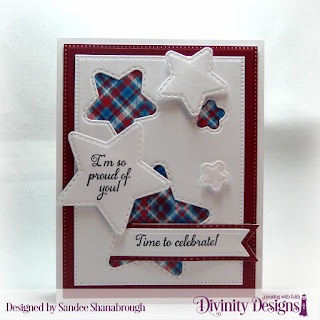Divinity Designs Stamp Set: Dream Big, Paper Collection: Old Glory, Custom Dies: Double Stitched Stars, Pierced Rectangles, Pennant Flags, Double Stitched Pennant Flags