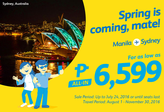 Cebu Pacific Manila to Sydney Promo 2017